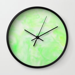 Neon Green Marble Wall Clock