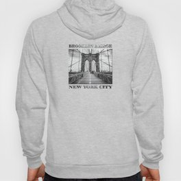 Brooklyn Bridge, New York City (rustic black & white) Hoody