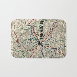 Terminus Map Bath Mat