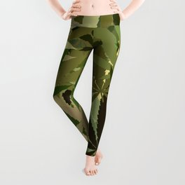 Marijuana Cannabis Weed Pot Camouflaged Theme Leggings