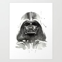 darth Art Prints featuring Darth Vader by Olechka