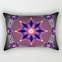 Morning Star Circle (Purple) Rectangular Pillow