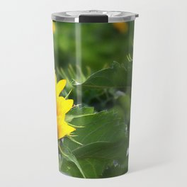 Sunflower Field and Early Bloomers Travel Mug