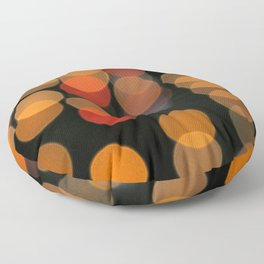Blurred Orange Lights Floor Pillow