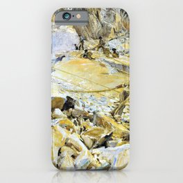 John Singer Sargent - Bringing Down Marble from the Quarries to Carrara iPhone Case