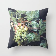 BLACK CURRANTS Throw Pillow