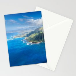 Na Pali approaching Hanalei Stationery Cards