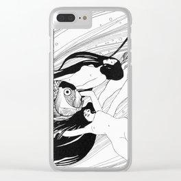 Fishblood by Gustav Klimt Clear iPhone Case