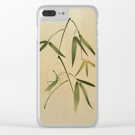 Mantis and Bamboo Clear iPhone Case