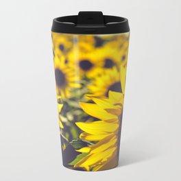 Summer Sunflower Love Metal Travel Mug