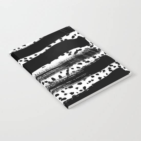 Iver - black and white minimal painting abstract art brooklyn trendy urban street city art work  Notebook