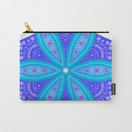 Snowflakes mandala Carry-All Pouch