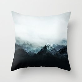 Mountain Peaks Throw Pillow