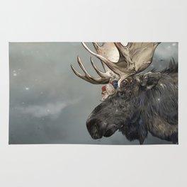 Eerik the Sami Shaman and Hirvi the Moose Rug