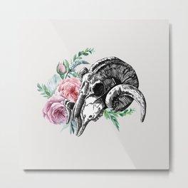 Nature skull Metal Print