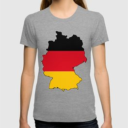 Germany Map with German Flag T-shirt