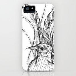 Lyrebird iPhone Case