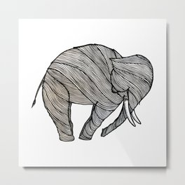The White Elephant Metal Print
