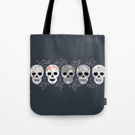 Celebracion de Gris_Calaveras Sugar Skulls line_RobinPickens Tote Bag