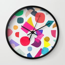 colored toys 2 v Wall Clock