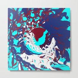 Fluid Abstract 17 Metal Print