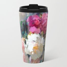 Still Life with White & Pink Roses Travel Mug