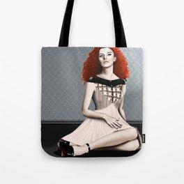 Fashion illustration 2 - Helena Bonham Carter inspired Tote Bag