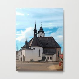 The village church of Vorderweissenbach I | architectural photography Metal Print