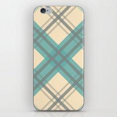 Teal Pastel Plaid iPhone & iPod Skin