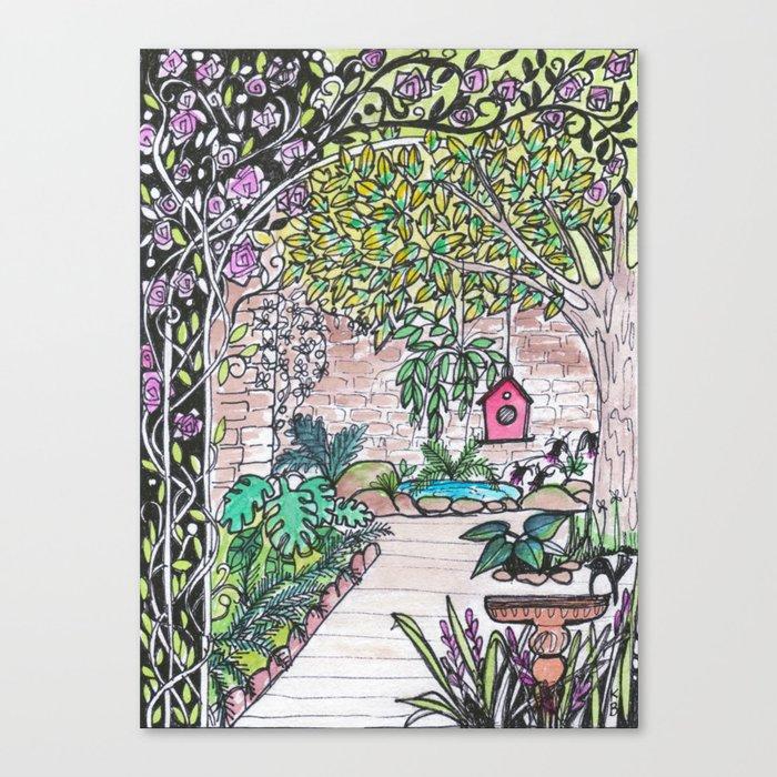 Val's Beautiful Garden Canvas Print