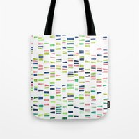 dna Tote Bags featuring DNA by insemar