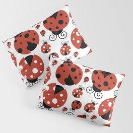 Pattern Of Ladybugs, Cute Ladybugs, Red Ladybugs Pillow Sham