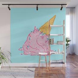 Unicorn melts Wall Mural