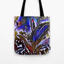 Vivid Foliage in blue Tote Bag