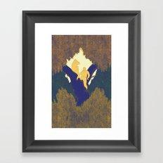 Treetop picnic Framed Art Print