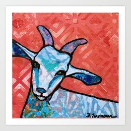 Blue Goat Art Print
