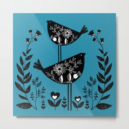 Danish Birds Bring Good Luck And A Good Life Metal Print