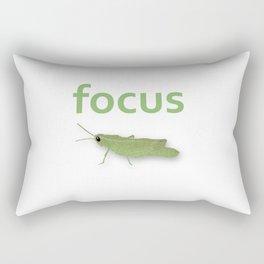 Focus Grasshopper Rectangular Pillow