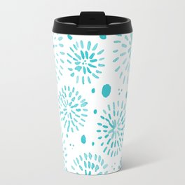 Abstract watercolor sparkles – turquoise Travel Mug