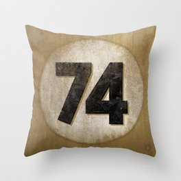 Vintage Auto Racing Number 74 Throw Pillow