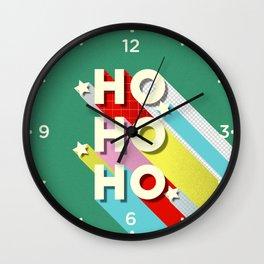 Christmas typography Wall Clock