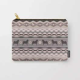 Pug - Decorative Pattern in pastels Carry-All Pouch