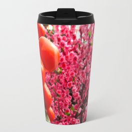 Orange Clementines and Pink Trees Travel Mug