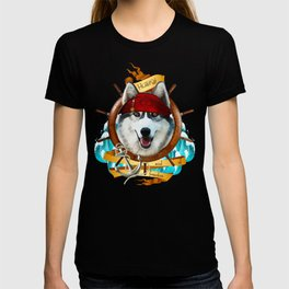 Pirate Husky Sailor Soul of Freedom T-shirt