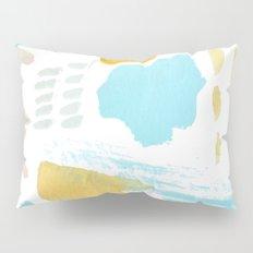 Summer blue yellow abstract Pillow Sham