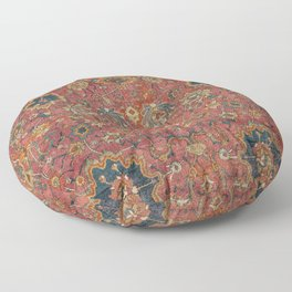 Persian Medallion Rug IV // 16th Century Distressed Red Green Blue Flowery Colorful Ornate Pattern Floor Pillow