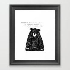You're not a Bad person Framed Art Print
