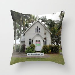 St Mary's by the Sea Throw Pillow
