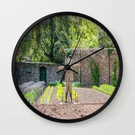The Lost Gardens of Heligan - Diggory the Scarecrow on Guard Wall Clock