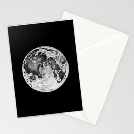 Full Moon Lunar Phase Stationery Cards